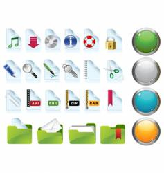 set of internet icons vector image vector image
