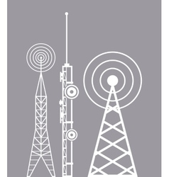 Towers telecommunication television radio vector