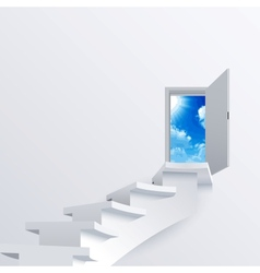 White way path to a door on background vector
