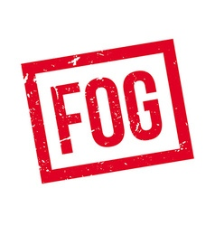 Fog rubber stamp vector