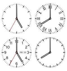 Clock face set of different styles vector