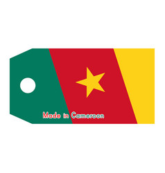 cameroon flag on price tag vector image
