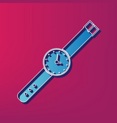 Watch sign   blue 3d printed vector