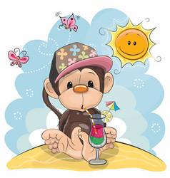 Monkey on the beach vector