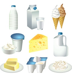 Milky set vector