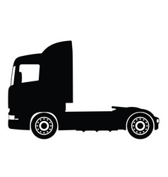 Black silhouette on a truck vector