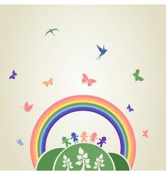Children rainbow vector image