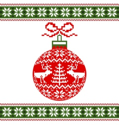 christmas ball with deers vector image