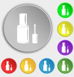 Nail polish bottle icon sign symbol on eight flat vector