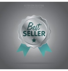 Best seller isolated badge or label vector