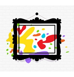 black rectangular frame in modern style w vector image