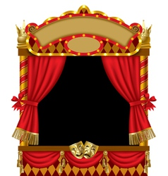 Puppet show booth vector