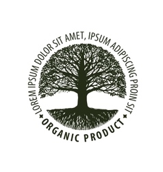 Logo tree organic Natural product Nature or vector image
