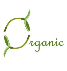 Label organic o symbol vector