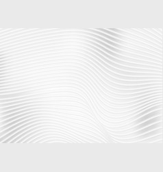 abstract grey white wavy lines background vector image vector image