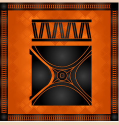 african national cultural symbols vector image vector image