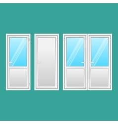 Aluminium Doors Set Interior Connecting Door vector image vector image