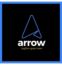 Arrow Up Letter A logo vector image vector image