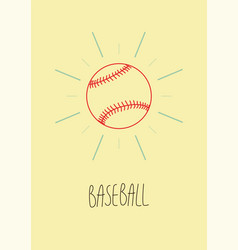 Baseball vintage hand drawn style poster vector
