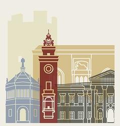 Bergamo skyline poster vector image