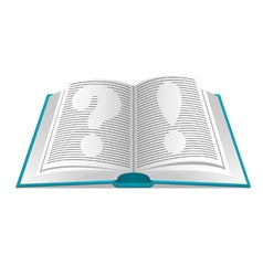 book of questions and answers vector image