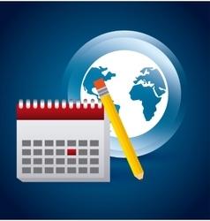 Calendar icon app vector