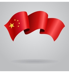 Chinese waving flag vector