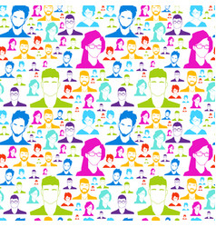 Colorful people silhouette social media profile vector