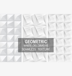 Decorative geometric textures seamless vector