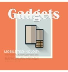 Flat design banners Phones vector image vector image