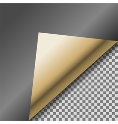 Folded up black foil blank note paper vector image vector image