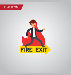 Isolated fire exit flat icon emergency vector