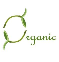Label organic O symbol vector image