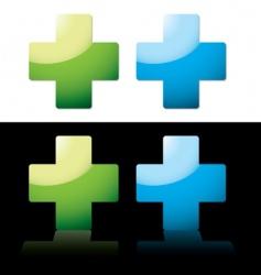 medical cross vector image vector image