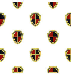 medieval shield pattern flat vector image vector image