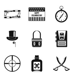 Murder icons set simple style vector