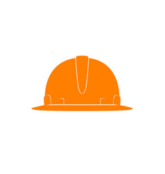 Orange working hard hat vector