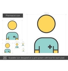 Pharmacist line icon vector image vector image