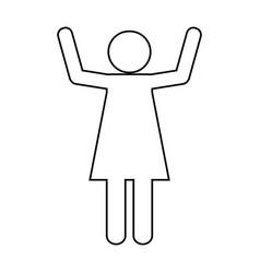pictogram woman design vector image vector image