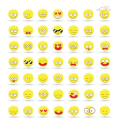 Set of Emotions cartoon vector image vector image