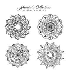 set of mandala decorative vector image vector image