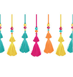 vibrant decorative tassels beads and vector image vector image