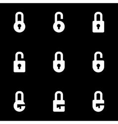 white locks icon set vector image vector image