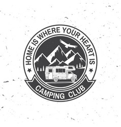 Camper and caravaning club vector