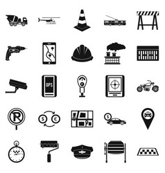 Mechanical engineering icons set simple style vector