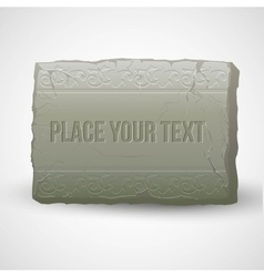 Ancient stones with inscriptions vector