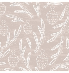 Pine cone seamless pattern vector