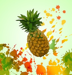 Pineapple background design vector image