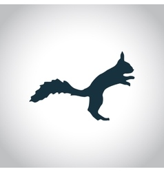 Squirrel simple icon vector
