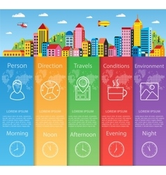 City infographics flat vector